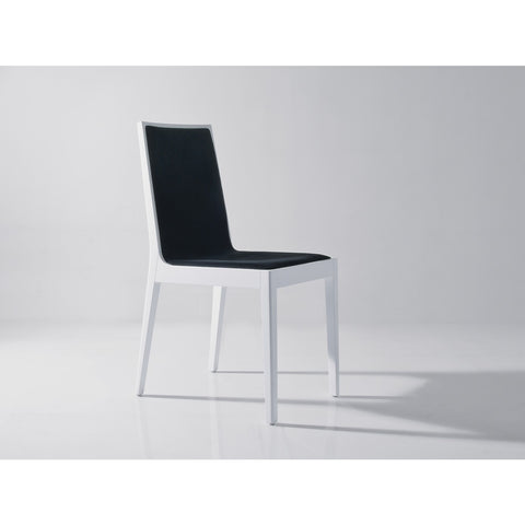 J&M Furniture Star Dining Chair in White & Black