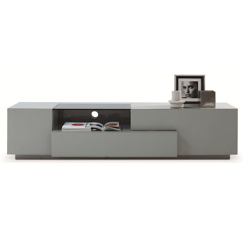 J&M Furniture TV Stand 015 in Grey High Gloss