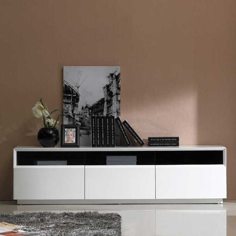 J&M Furniture TV Stand 023 in White High Gloss