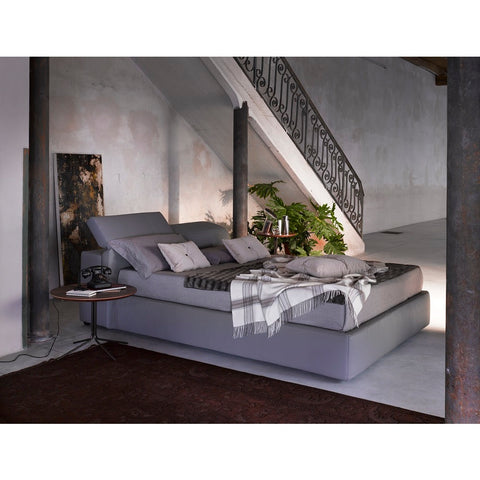 J&M Furniture Tower Storage Bed in Grey Eco Leather