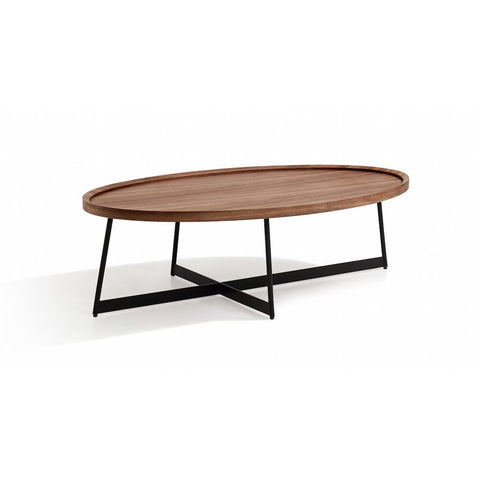 J&M Furniture Uptown Coffee Table in Walnut & Black