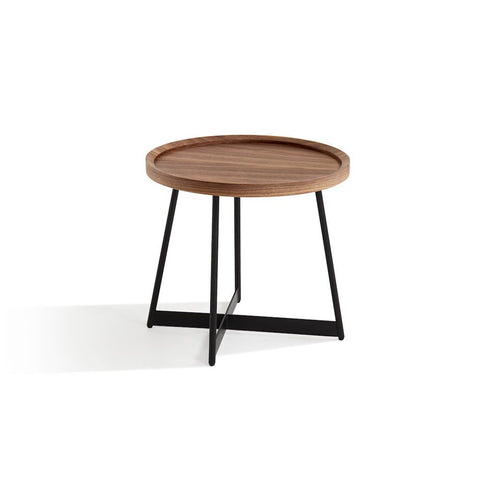 J&M Furniture Uptown End Table in Walnut & Black