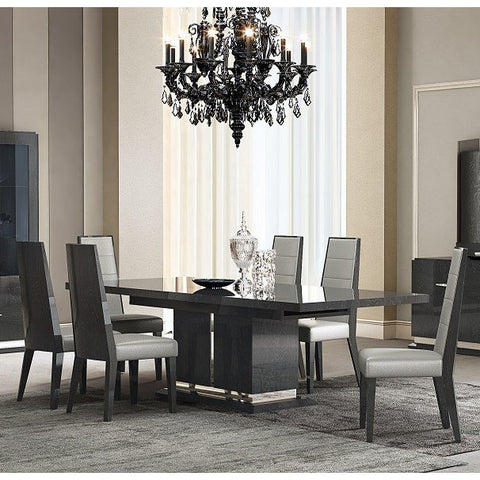 J&M Furniture Valentina 7 Piece Dining Room Set in Grey