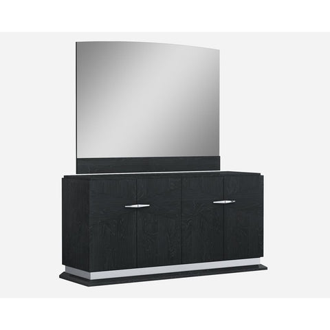 J&M Furniture Valentina Buffet w/Mirror in Grey