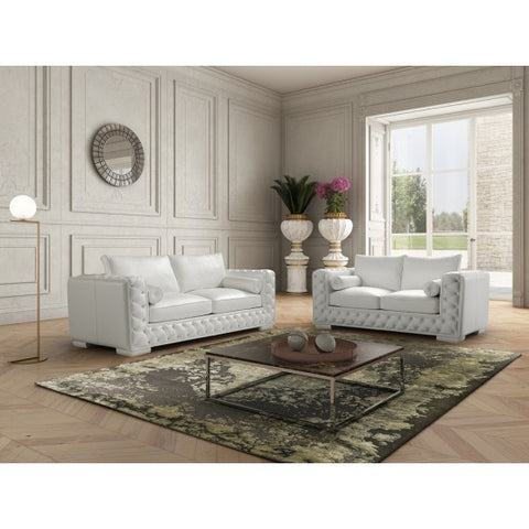 J&M Furniture Vanity 2 Piece Living Room Set in White
