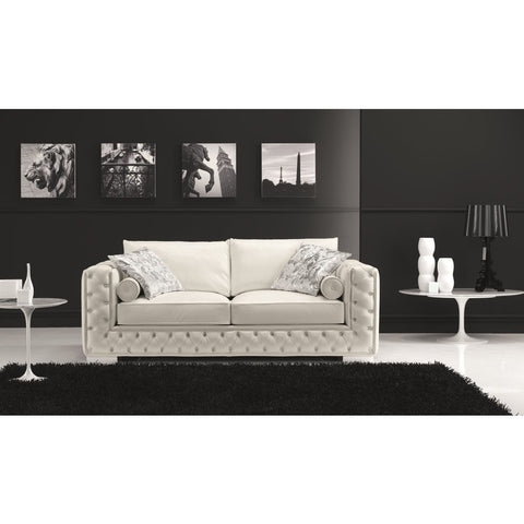 J&M Furniture Vanity Loveseat in White