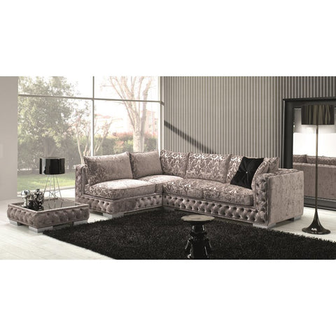J&M Furniture Vanity Sectional in Taupe