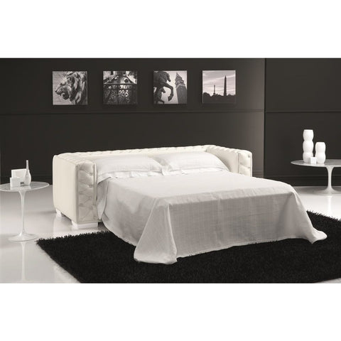 J&M Furniture Vanity Sofa Bed in White