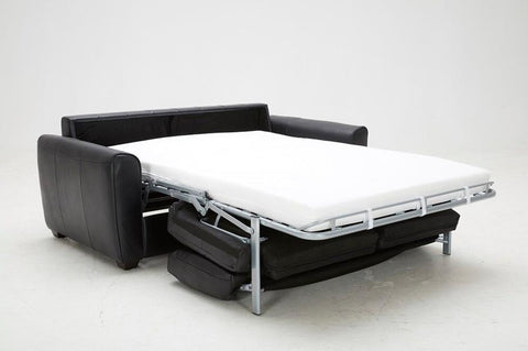 J M Furniture Ventura Sofa Bed In Black Leather Beyond Stores