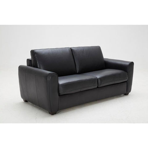 J&M Furniture Ventura Sofa Bed in Black Leather