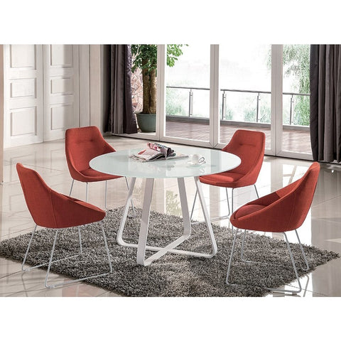J&M Furniture Vera Dining Table in White