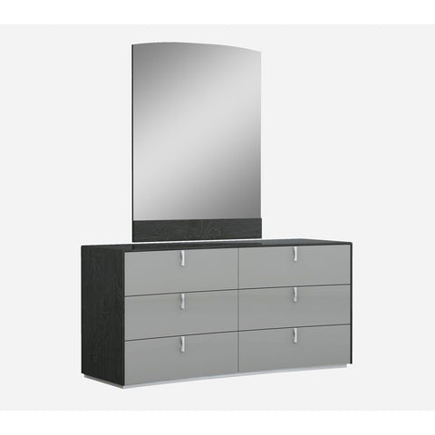 J&M Furniture Vera Dresser w/Mirror in Grey