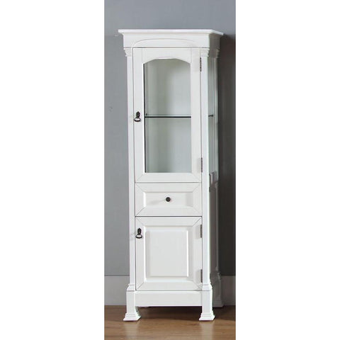 James Martin Brookfield Linen Cabinet In Cottage White