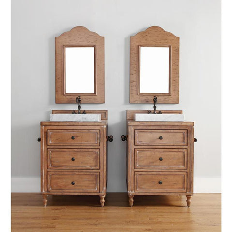 "James Martin Copper Cove 26"" Single Vanity And Mirror Set In Copper Cover"