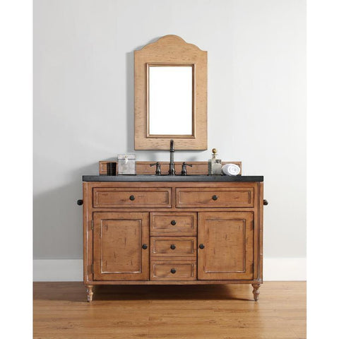 "James Martin Copper Cove 48"" Single Vanity And Mirror Set With Copper Cover"