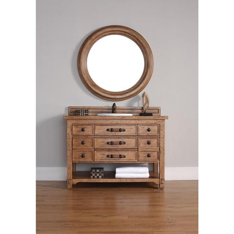 "James Martin Malibu 48"" Single Vanity And Mirror Set In Honey Alder"