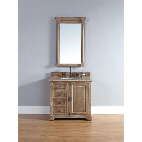 "James Martin Providence 36"" Single Vanity And Mirror Set In Driftwood"