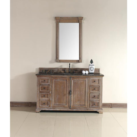 "James Martin Providence 60"" Single Vanity And Mirror Set In Driftwood"