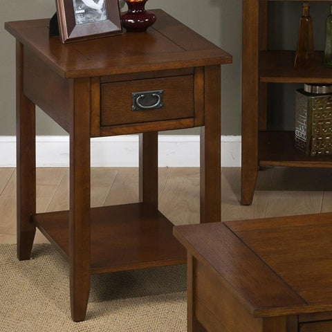 Jofran 1032-7 Chairside Table w/ Picture Framed Top