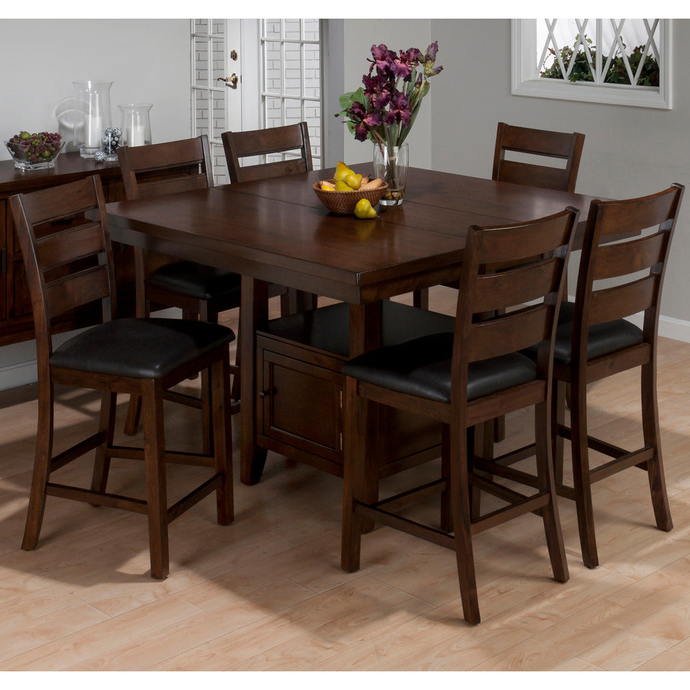 Jofran 337 54 Taylor 7 Piece Butterfly Leaf Counter Height Table Set