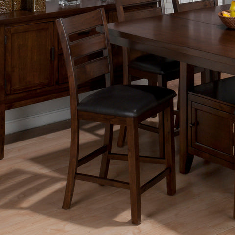 Jofran 337-BS923KD Taylor Triple Slat Counter Height Stool in Cherry