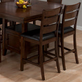 Jofran 337-54 Taylor 7 Piece Butterfly Leaf Counter Height Table Set w/ Storage Base