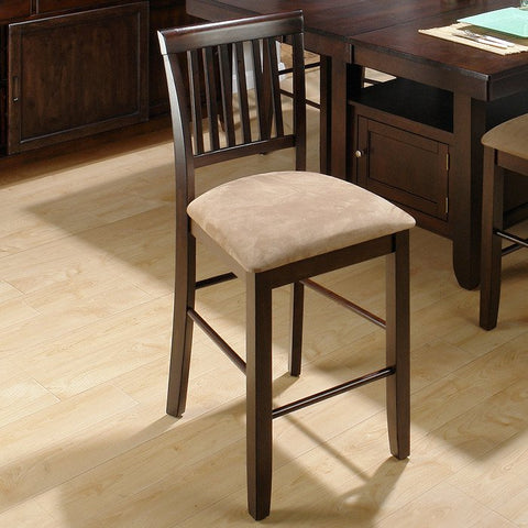 Jofran 373 Baker's Cherry Contemporary Slat Back Counter Height Stool