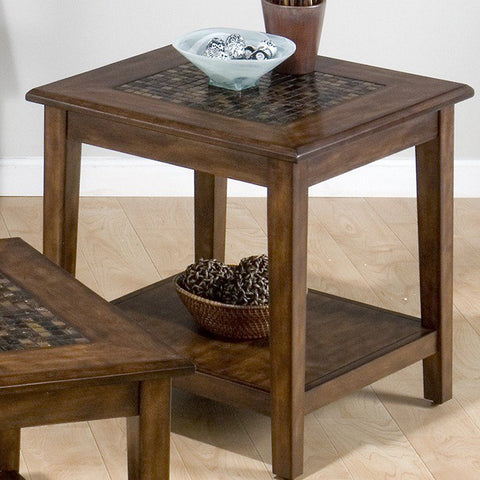 Jofran 698-3 Baroque Brown End Table