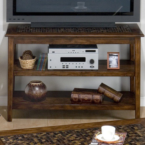 Jofran 698-4 Baroque Brown Sofa Table / Media Unit