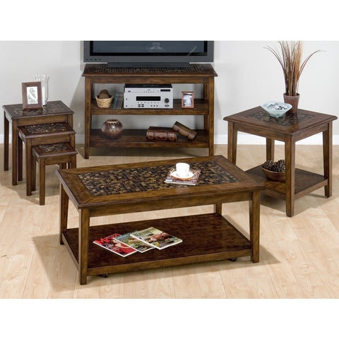 Jofran 698 Baroque Brown 6 Piece Occasional Table Set