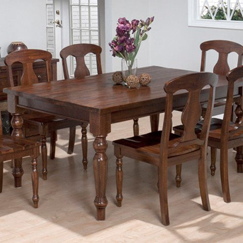 Jofran 733-66 Urban Lodge Rectangle Leg Dining Table in Rustic