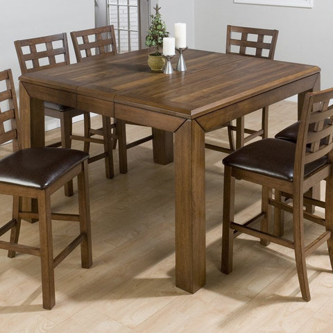 Jofran 737-54 Wenatchee Falls Walnut Counter Height Table w/ Leaf