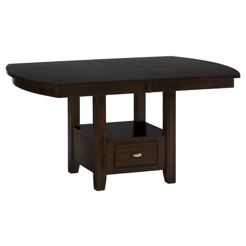 Jofran 836-78 Extension Leaf Dining Table w/ Shaped Ends & Storage Base