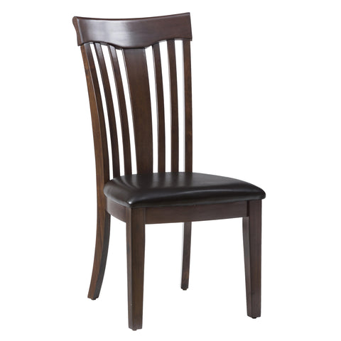 Jofran 836-947KD Contoured Slat Back Side Chair w/Upholstered Seat