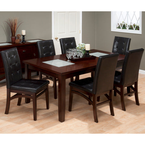 Jofran 863-72 Chadwick 7 Piece Rectangle Extension Dining Room Set in Espresso