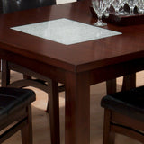 Jofran 863-72 Chadwick Rectangle Extension Dining Table w/ 2 Crackled Glass Inserts