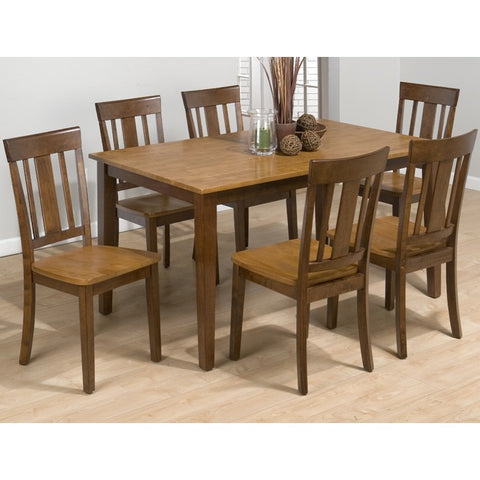 Jofran 875 Kura Espresso Canyon Gold 7 Piece 60 inch Dining Room Set