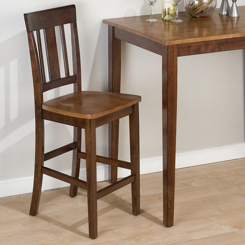 Jofran 875 Kura Espresso Canyon Gold Triple Upright Counter Height Stool