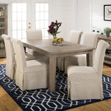 Jofran 941-72 Reclaimed Pine Leg Dining Table w/Extension Leaf