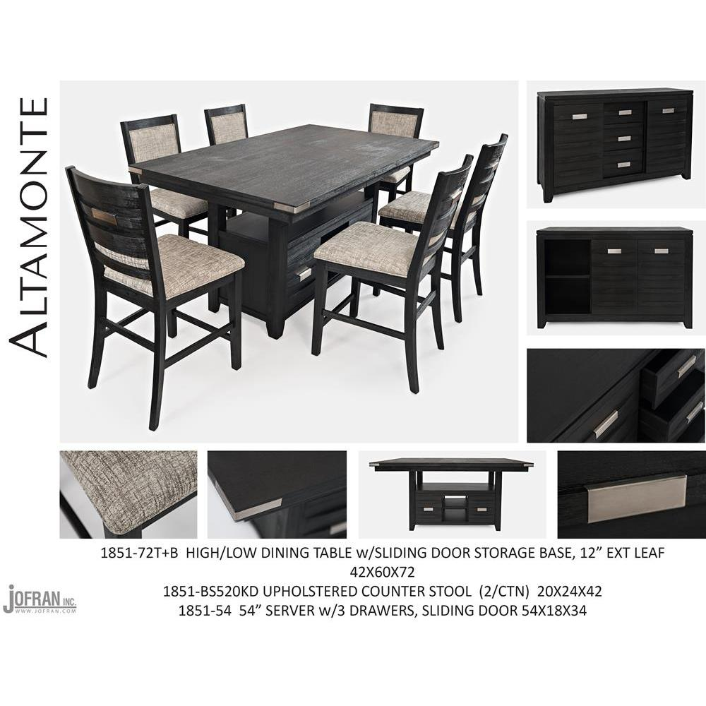Fantastic Jofran Altamonte Counter Height Dining Table With Upholstered Stools In Dark Charcoal Grey Gmtry Best Dining Table And Chair Ideas Images Gmtryco
