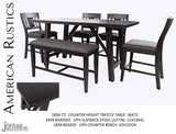 Jofran American Rustics Counter Height Trestle Dining Set