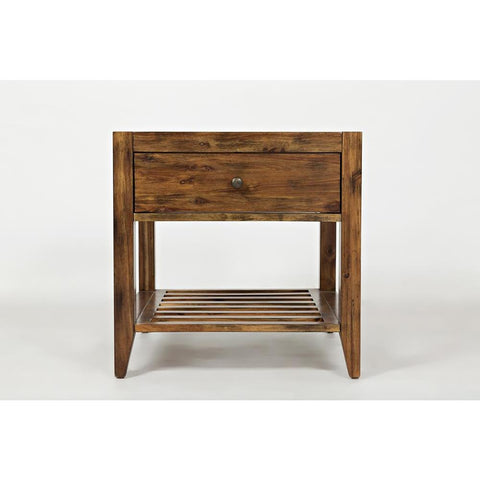 Jofran Beacon Street End Table in Warm Medium