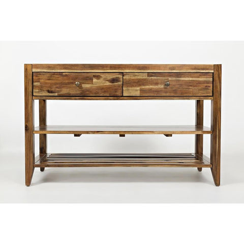 Jofran Beacon Street Sofa Table in Warm Medium