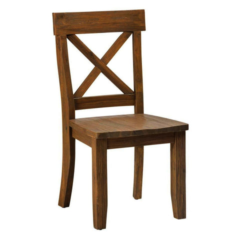 Jofran Boulder Ridge X-Back Side Chair
