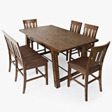 Jofran Cannon Valley 6 Piece Counter Height Table Set