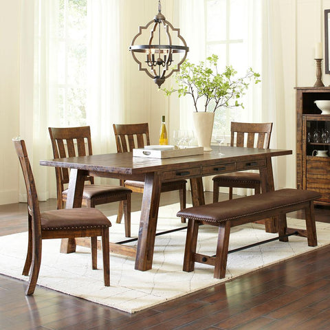 Jofran Cannon Valley 6 Piece Trestle Dining Room Set