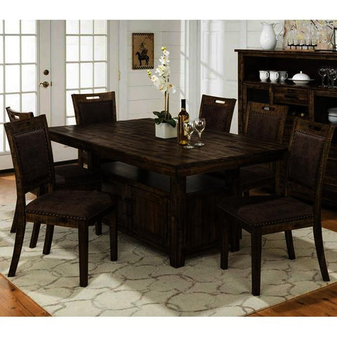 Jofran Cannon Valley 7 Piece Dining Room Set w/Storage Base
