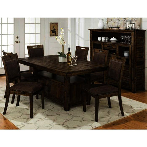 Jofran Cannon Valley 8 Piece Dining Room Set w/Storage Base