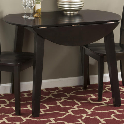 Jofran Caramel Finish Round Drop Leaf Table
