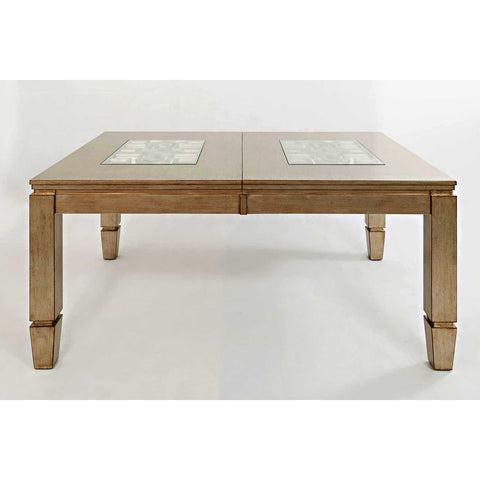 Jofran Casa Bella Rectangular Dining Table w/Take Out Leaf in Vintage Silver